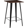 Paris Wood 60x60 black&walnut square bar table D2.Design