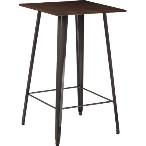 Stylowy Stół barowy Paris Wood Orzech 60 D2.Design do kuchni. Kolor biały