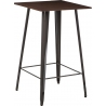 Paris Wood 60x60 metal&walnut square bar table D2.Design