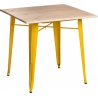 Paris Wood 76x76 yellow&natural square dining table D2.Design