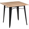 Paris Wood 76x76 black&natural wooden square dining table D2.Design