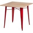 Inudustrialne stylowe krzesła Paris Arms Wood Naturalny z podłokietnikami