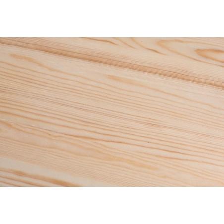 Industrialny Stół drewniany Paris Wood Naturalny 76x76 Niebieski D2.Design do kuchni, jadalni i salonu.