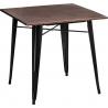 Stylowy Stół kwadratowy Paris Wood Orzech 76 D2.Design do kuchni. Kolor srebrny