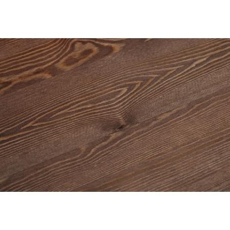 Paris Wood 76x76 black&walnut industrial square dining table D2.Design