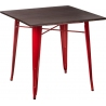 Paris Wood 76x76 red&walnut wooden industrial dining table D2.Design