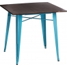 Paris Wood 76x76 blue&walnut wooden square dining table D2.Design