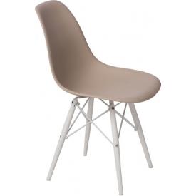 Designerski Okrągły stolik kawowy Tipton 75 Actona do salonu. Kolor dąb, stelaż/podstawa metalowa.
