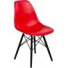 Designerskie Krzesło z tworzywa DSW PP Black Czerwone D2.Design do jadalni i salonu.