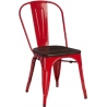 Paris Wood brushed walnut&red metal chair D2.Design
