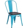 Paris Wood brushed walnut&blue metal chair D2.Design