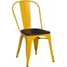 Paris Wood brushed walnut&yellow metal chair D2.Design