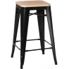 Paris Wood 65 natural&black industrial bar stool D2.Design