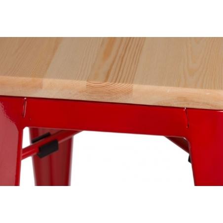Paris Wood 65 natural&red industrial bar stool D2.Design
