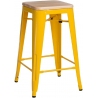Paris Wood 65 natural&yellow industrial bar stool D2.Design