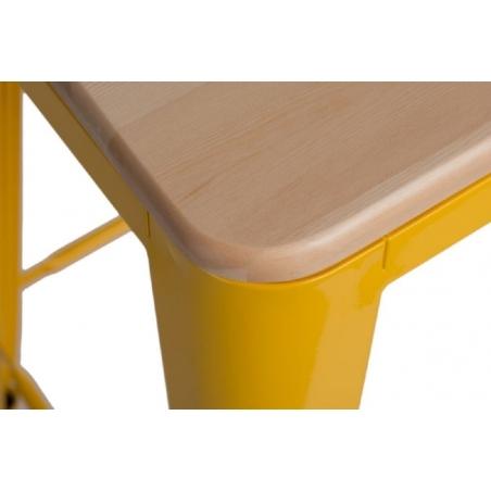 Paris Wood 65 natural&yellow industrial bar stool D2.Design