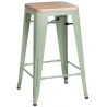 Paris Wood 65 natural&green industrial bar stool D2.Design