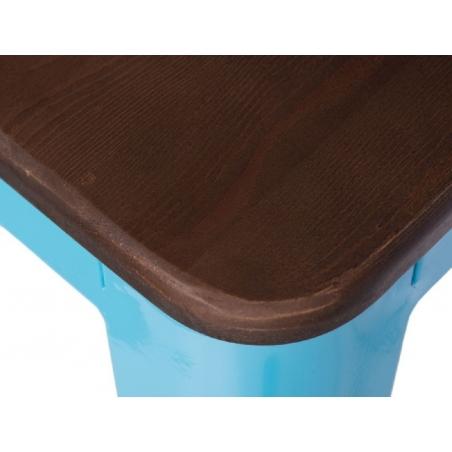 Paris Wood 65 walnut&blue industrial bar stool D2.Design