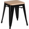 Paris Wood natural&black industrial metal stool D2.Design