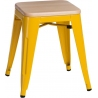 Paris Wood natural&yellow industrial metal stool D2.Design