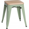 Paris Wood natural&green industrial metal stool D2.Design