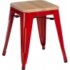 Paris Wood natural&red industrial metal stool D2.Design