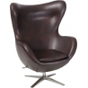 Jajo EcoLeather dark brown swivel armchair D2.Design