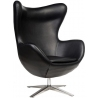 Jajo EcoLeather black swivel armchair D2.Design