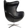 Jajo EcoLeather black swivel armchair D2.Design