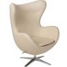 Jajo EcoLeather beige swivel armchair D2.Design