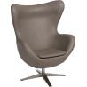 Jajo EcoLeather khaki swivel armchair D2.Design