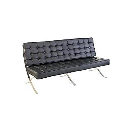 Stylowa Sofa 3 osobowa Barcelon Eco Czarna D2.Design do salonu i przedpokoju.
