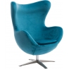 Jajo Velvet blue swivel armchair D2.Design