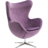 Jajo Velvet purple swivel armchair D2.Design