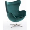 Jajo Velvet dark green swivel armchair D2.Design