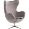Jajo Velvet silver swivel armchair D2.Design
