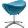Jajo Velvet blue velvet footstool D2.Design