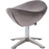 Jajo Velvet silver velvet footstool D2.Design