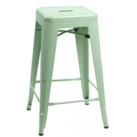 Paris 75 High insp. Tolix mint metal bar stool D2.Design
