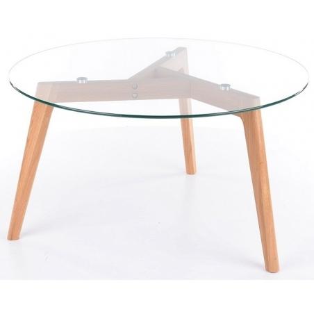 Designerski Szklany stolik kawowy Oslo Glass 80 Signal do salonu. Kolor przeźroczysty