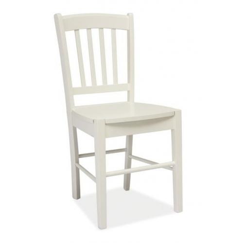Designerskie Krzesło drewniane CD57 Wooden Signal do kuchni. Kolor biały