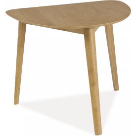 Skandynawski Stół drewniany Karl 90x80 Dąb Signal do salonu, jadalni i kuchni.