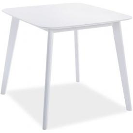 Skandynawski Stół kwadratowy Sigma 80x80 Biały Signal do salonu, jadalni i kuchni.