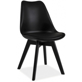 Kris Black black cushion chair Signal