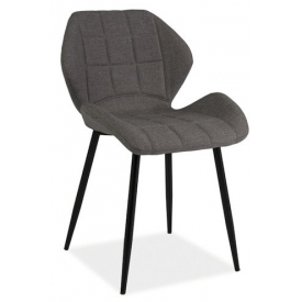 Tapicerowane krzesło Hals Signal do jadalni. Kolor: szary
