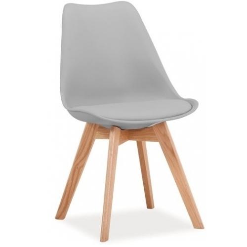 Designerskie Krzesło Kris Signal do jadalni. Kolor jasno szary