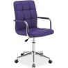 Q022 Duty purple quilted office chair Signal