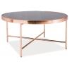 Designerski Szklany stolik kawowy Gina M 82 Signal do salonu. Kolor miedziany