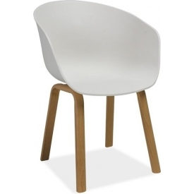 Ego white scandinavian chair with armrests Signal