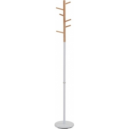 Dimos white&wood scandinavian coat stand Signal
